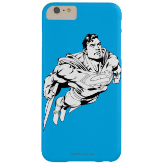 Superman Black and White 1 Barely There iPhone 6 Plus Case
