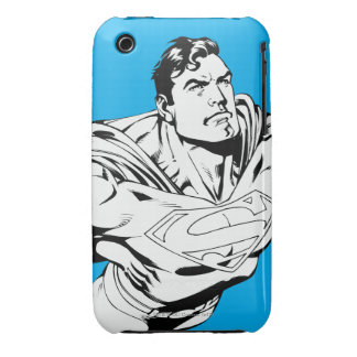 Superman Black and White 1 Case-Mate iPhone 3 Cases
