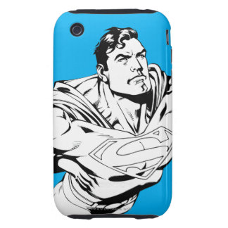 Superman Black and White 1 iPhone 3 Tough Covers