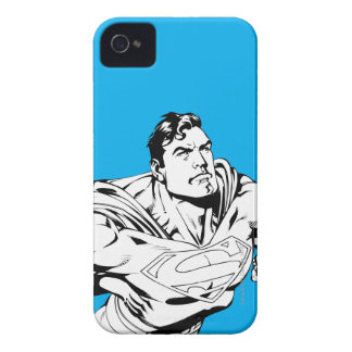 Superman Black and White 1 iPhone 4 Case-Mate Case