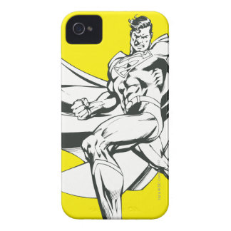 Superman Black and White 2 iPhone 4 Case
