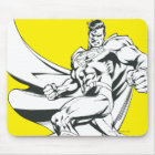 Superman Black and White 2 Mouse Pad