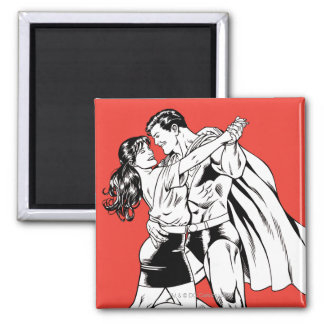 Superman Black and White 4 Magnet