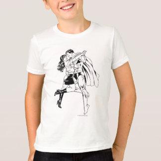 Superman Black and White 4 T-Shirt