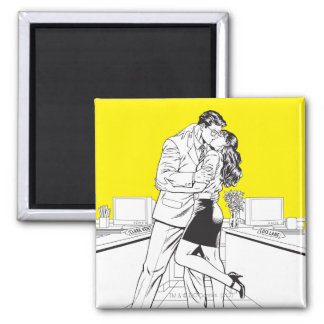 Superman Black and White 5 2 Inch Square Magnet