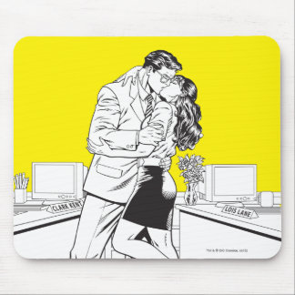 Superman Black and White 5 Mouse Pad
