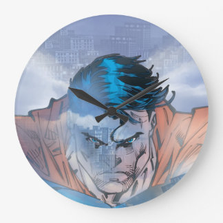 Superman - Blue Large Clock