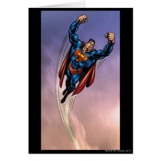 Superman both arms raised card