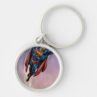 Superman both arms raised keychain