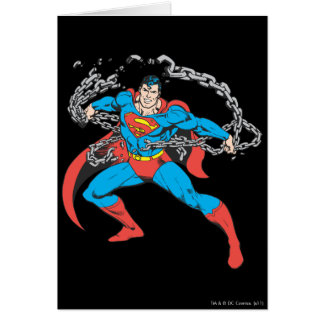 Superman Breaks Chains 2 Greeting Card
