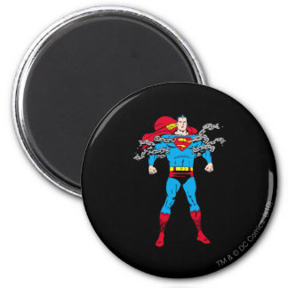 Superman Breaks Chains 2 Inch Round Magnet