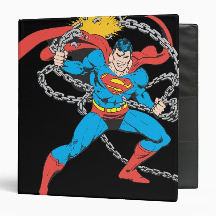 Superman Breaks Chains 3 Binder