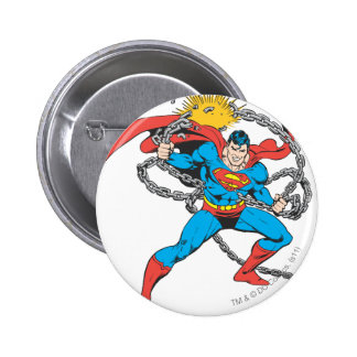 Superman Breaks Chains 3 Button