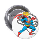 Superman Breaks Chains 3 Pinback Buttons