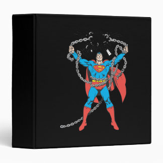 Superman Breaks Chains 3 Ring Binder