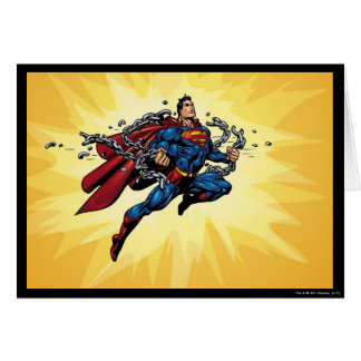 Superman breaks chains cards
