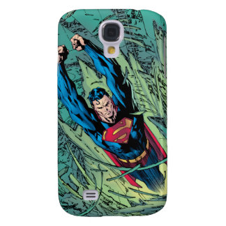 Superman breaks through galaxy s4 cover