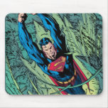 Superman breaks through mouse pad