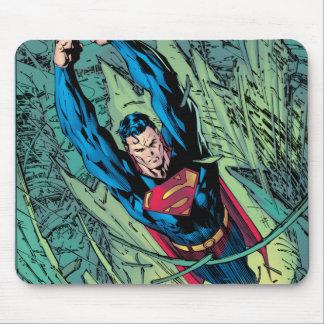 Superman breaks through mouse pad