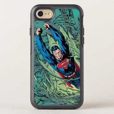 Superman breaks through OtterBox symmetry iPhone 8/7 case