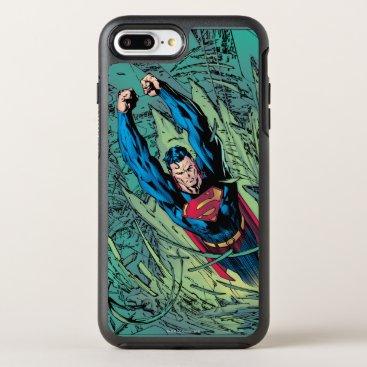 Superman breaks through OtterBox symmetry iPhone 8 plus/7 plus case