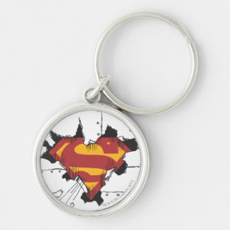 Superman broken metal key chains