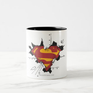 Superman broken metal Two-Tone coffee mug