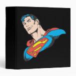 Superman Bust 3 3 Ring Binder