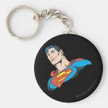 Superman Bust 3 Basic Round Button Keychain