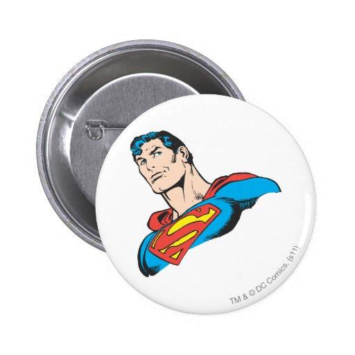 Superman Bust 3 Pinback Button