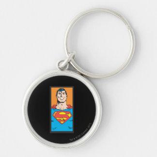 Superman Bust Frame Keychains