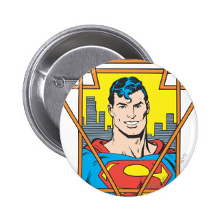 Superman Bust Pinback Button