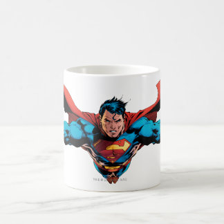 Superman cape flies coffee mug