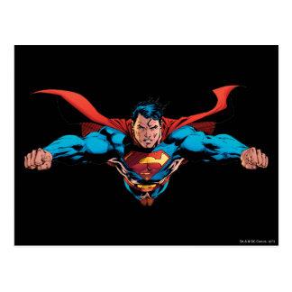 Superman cape flies postcard