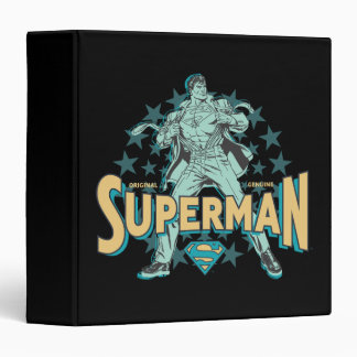 Superman changes with stars binder