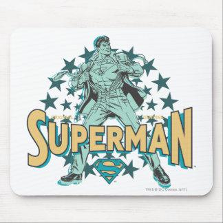 Superman changes with stars mouse pad