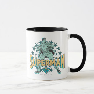 Superman changes with stars mug