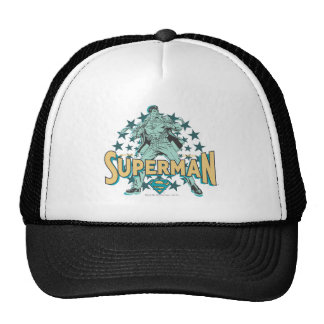 Superman changes with stars trucker hat