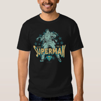 Superman changes with stars tshirt