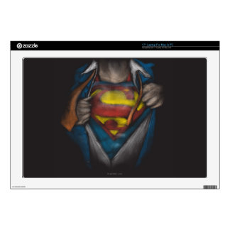 "Superman | Chest Reveal Sketch Colorized 17"" Laptop Skins"