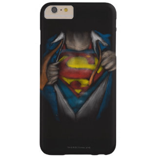 Superman   Chest Reveal Sketch Colorized Barely There iPhone 6 Plus Case