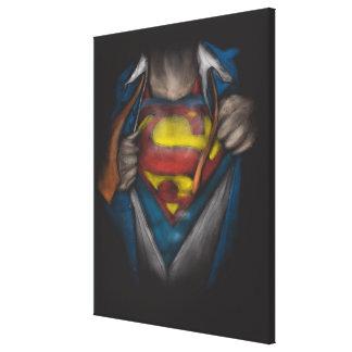 Superman | Chest Reveal Sketch Colorized Canvas Print