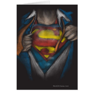Superman | Chest Reveal Sketch Colorized Card