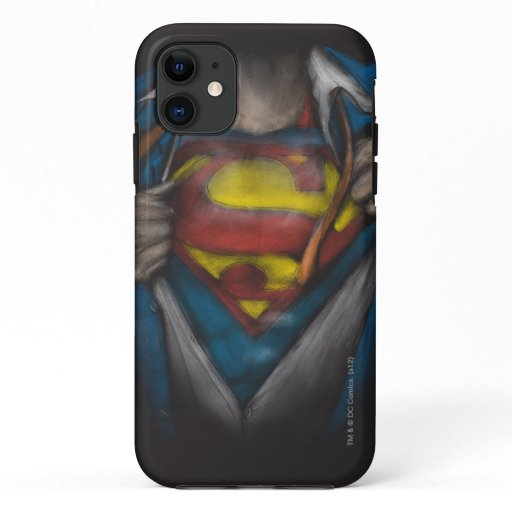 Superman | Chest Reveal Sketch Colorized iPhone 11 Case