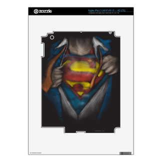 Superman | Chest Reveal Sketch Colorized Decals For iPad 3