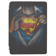 Superman | Chest Reveal Sketch Colorized Ipad Air Cover at Zazzle