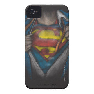 Superman | Chest Reveal Sketch Colorized iPhone 4 Case-Mate Case