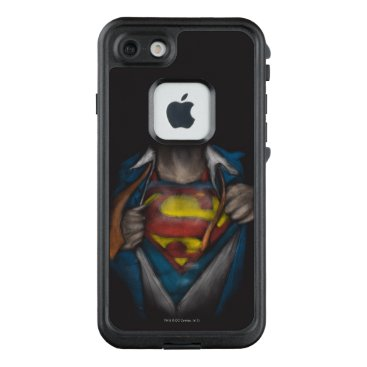 USA Themed Superman | Chest Reveal Sketch Colorized LifeProof FRĒ iPhone 7 Case