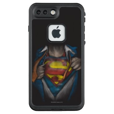 USA Themed Superman | Chest Reveal Sketch Colorized LifeProof FRĒ iPhone 7 Plus Case