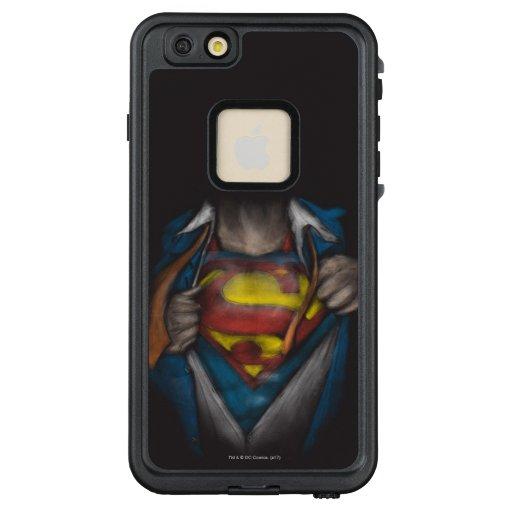 Superman   Chest Reveal Sketch Colorized LifeProof FRĒ iPhone 6/6s Plus Case